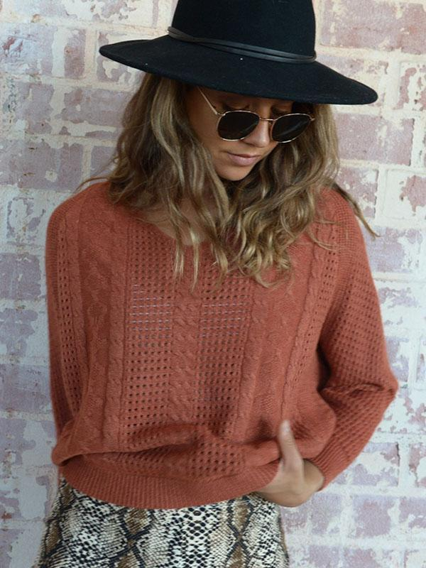 Women's Short Pullover Knit Sweater