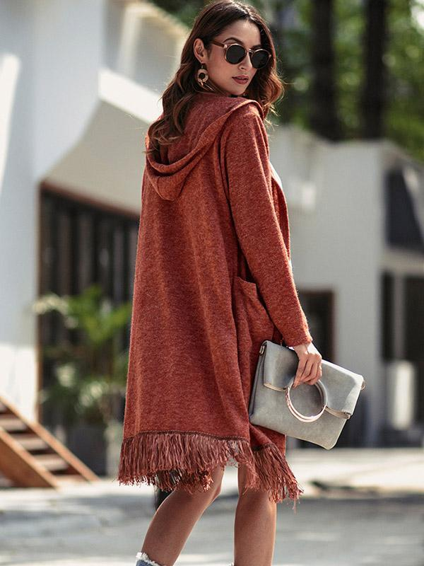 Women's Solid color long coat