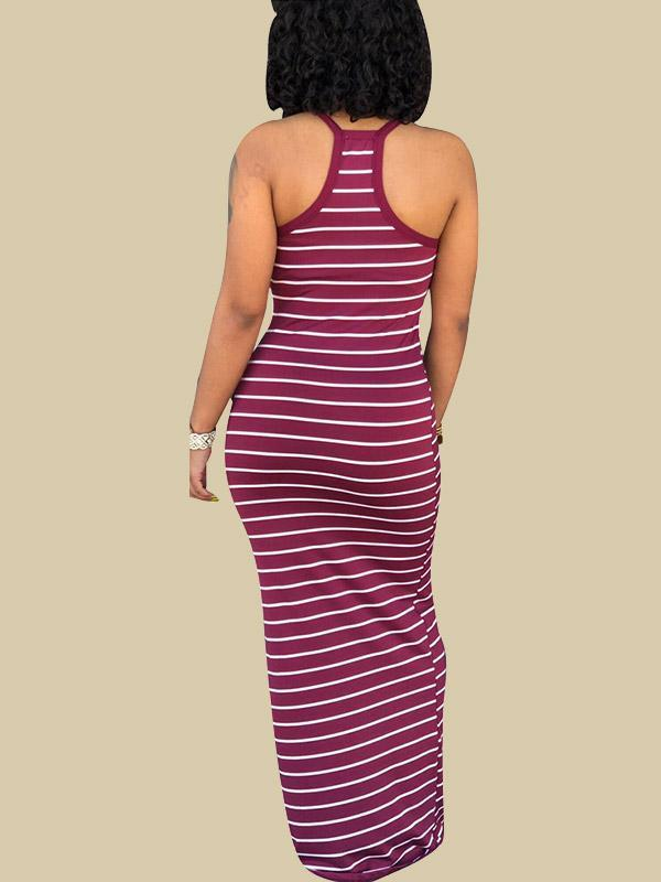 Women's Striped Camisole Maxi Dress