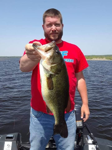 Chris Regas with a SOLID fish using the Shimmie Shad as a Swim Jig Trailer