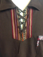 Load image into Gallery viewer, Brown Short Sleeve Peruvian Shirt, Size XL