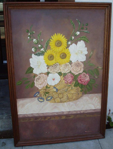 sunflower floral painting