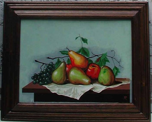 Fruit on Table with Green Pears 3
