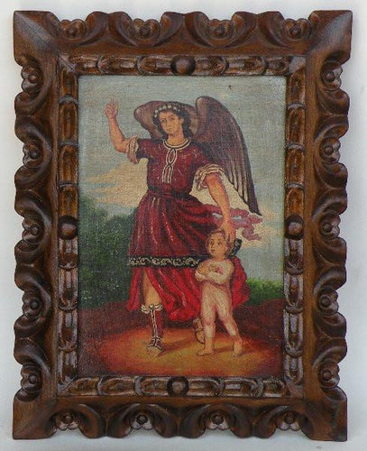 Guardian Archangel Raphael with baby Jesus