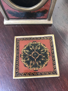 reverse painted glass coasters