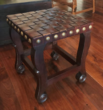 Load image into Gallery viewer, Spanish Colonial Stool - Dark Walnut