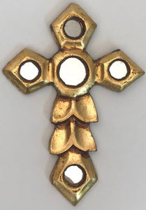 Gold Painted wooden Wall Cross - Gold