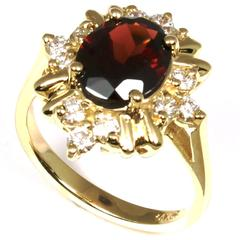 gold ring with jewel example consignment piece