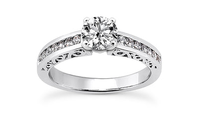 .28ctw Diamond Channel Engagement Ring Setting