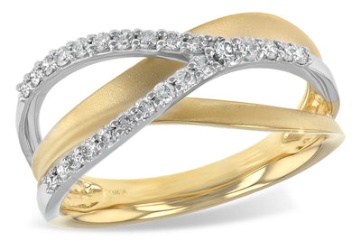 Two-Tone Gold and Diamond Orbit Ring