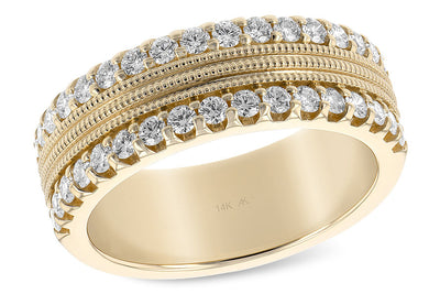 Diamond Double Row Anniversary Band