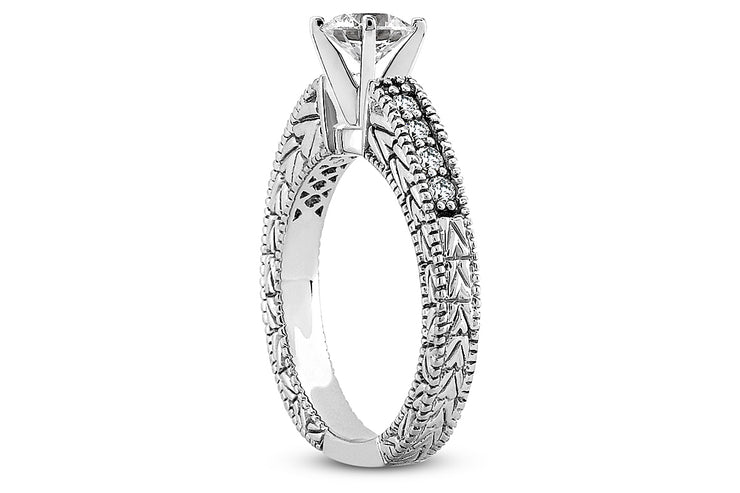 .70ctw Engraved Engagement Ring Setting