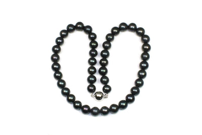 Large Black Pearl Necklace Strand