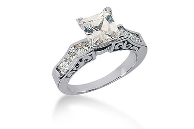 .80ctw Princess Cut Ring Setting