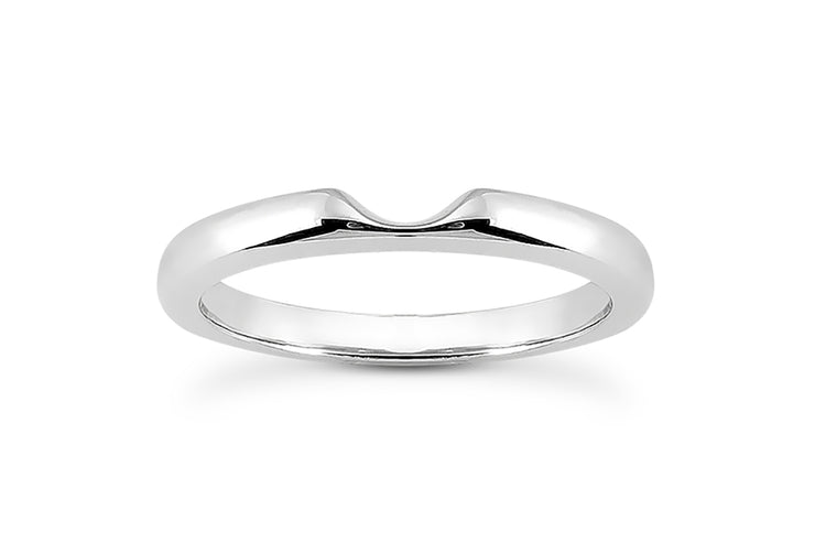 Diamond Knotched Wedding Band