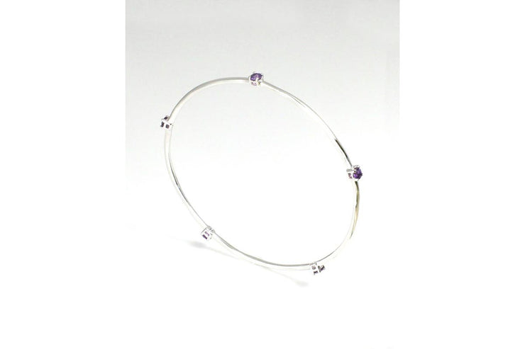 Stacking Bangle, Amethyst