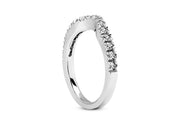 .21ctw Diamond Curved Wedding Band