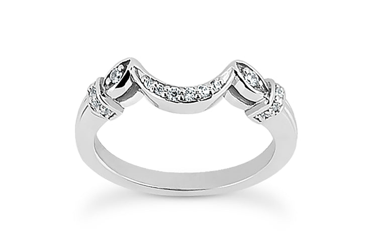 .09ctw Curved Diamond Wedding Band
