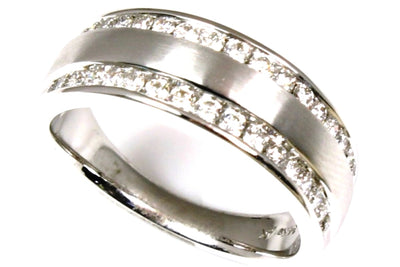 Double Row Diamond Anniversary Band