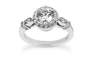 .20ctw Vintage Styled Halo Engagement Ring Setting