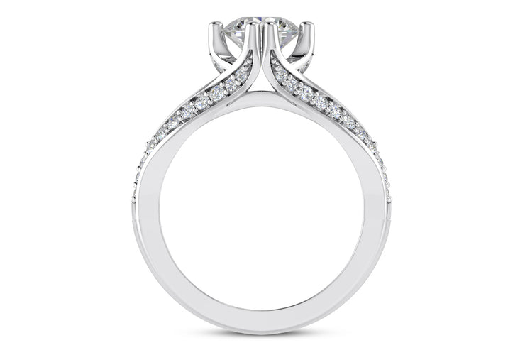 .38ctw Split Band Cathedral Ring Setting