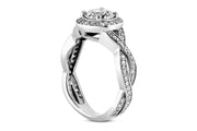 Twist Halo Diamond Ring Setting
