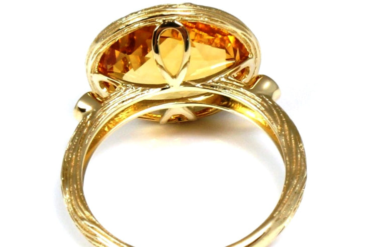 Citrine Rock Candy Ring