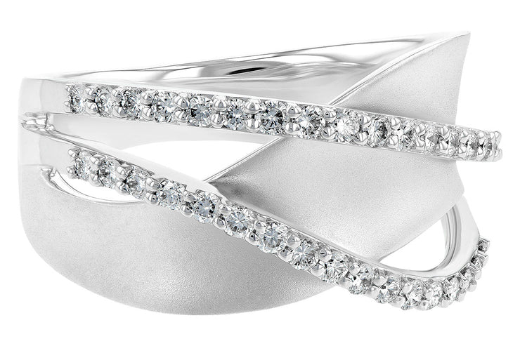.38ctw Diamond Pave Swirl Ring