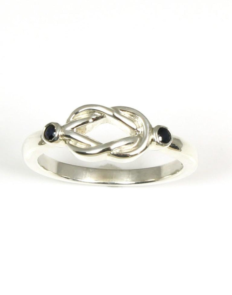 Sapphire Love Knot Ring, 2239