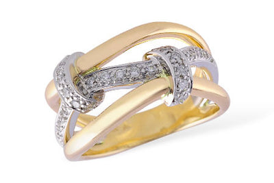 Diamond Love Knot Ring