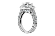 1.07ctw Diamond Three Sided Halo Ring Setting