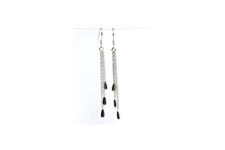 Triple Drop Dangle Earrings