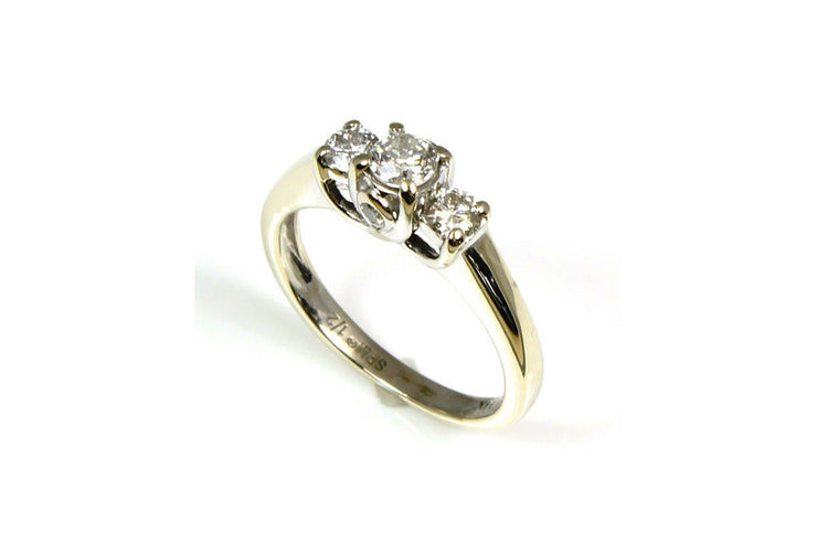 Diamond .50 Carat Three Stone Ring