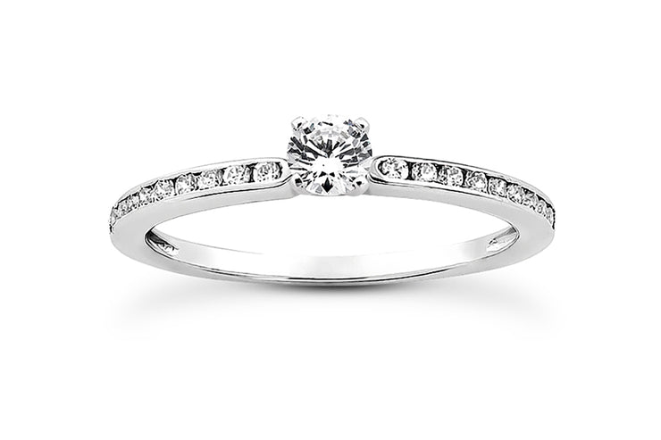 .18ctw Channel Set Diamond Engagement Ring Setting