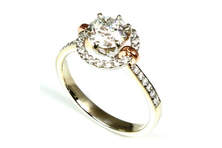 Halo Fashion Ring Setting for Round Gem