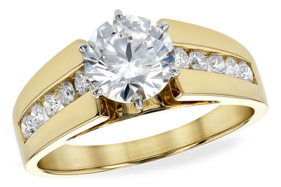 Wide Cathederal Channel Diamond Ring Setting