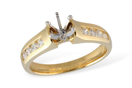 Diamond Channel Diamond Ring Mounting