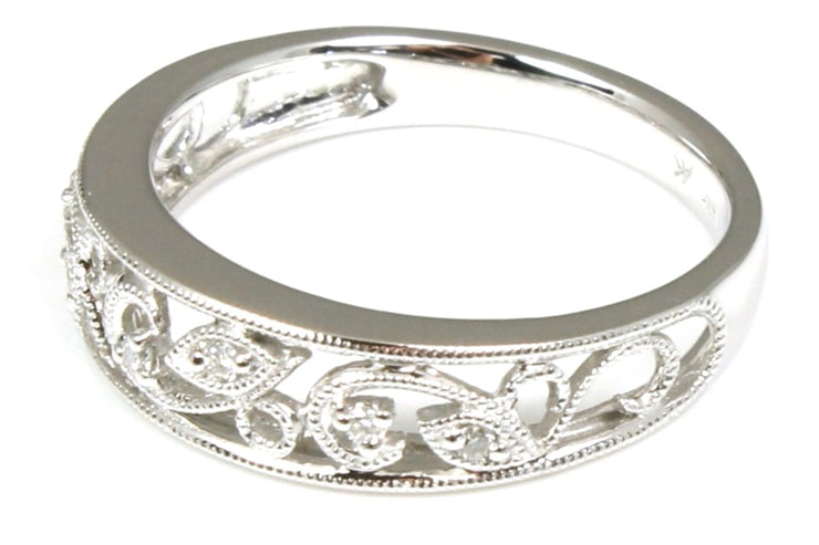 Filigree Design Diamond Band
