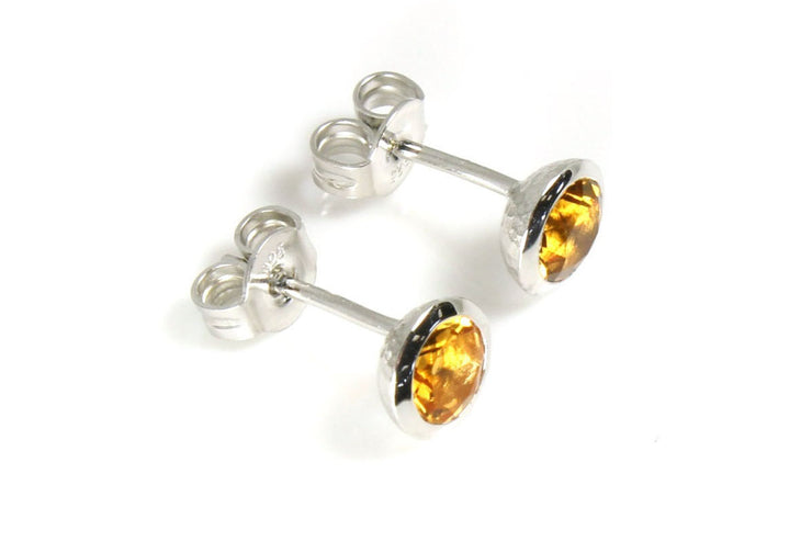 Citrine Bezel Earrings