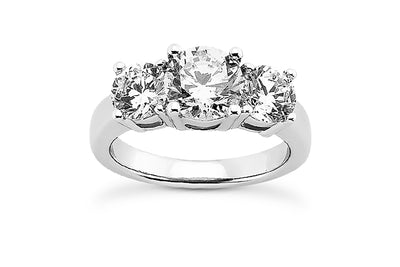 .70ctw Three Diamond Ring Setting