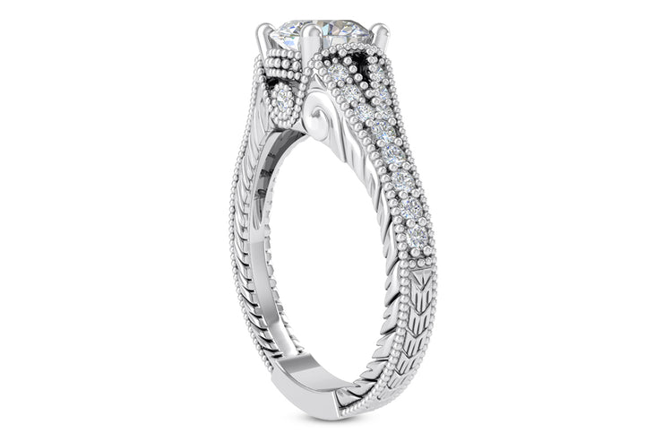 .28ctw Diamond Carved Ring Setting