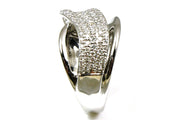 Diamond Pave Swirl Ring