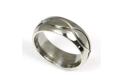 Titanium Carved Design Ring
