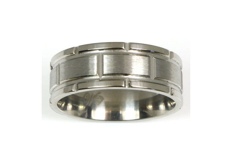 Titanium Block Design Ring