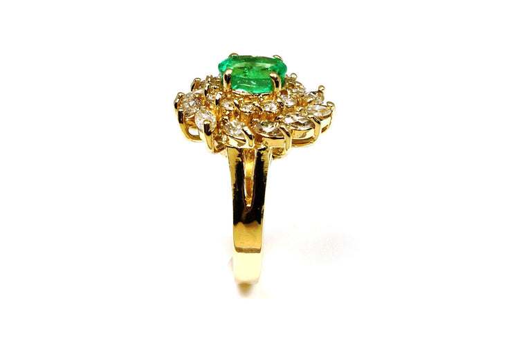 Emerald and Diamond Wreath Ring