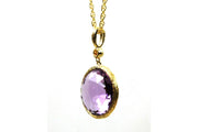 8.61ctw Amethyst and Diamond Rock Candy Necklace
