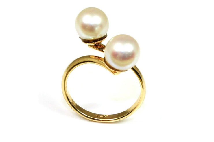 7.75mm Double Pearl Ring