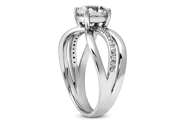 .10ctw Diamond Split Engagement Ring Setting