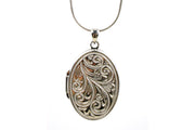 Large Oval Scroll Locket