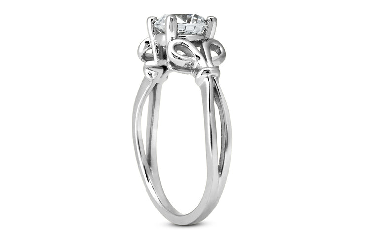 Scroll Diamond Ring Setting